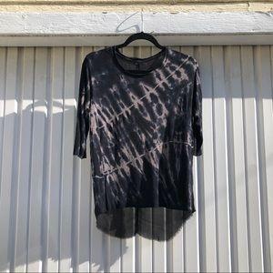 Raquel Allegra black tie dye short sleeve top